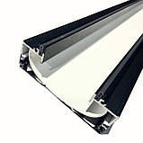 Профіль алюмінієвий для натяжних стель - світлові лінії SLOTT ніша(ЧОРНО/БІЛИЙ), фото 2