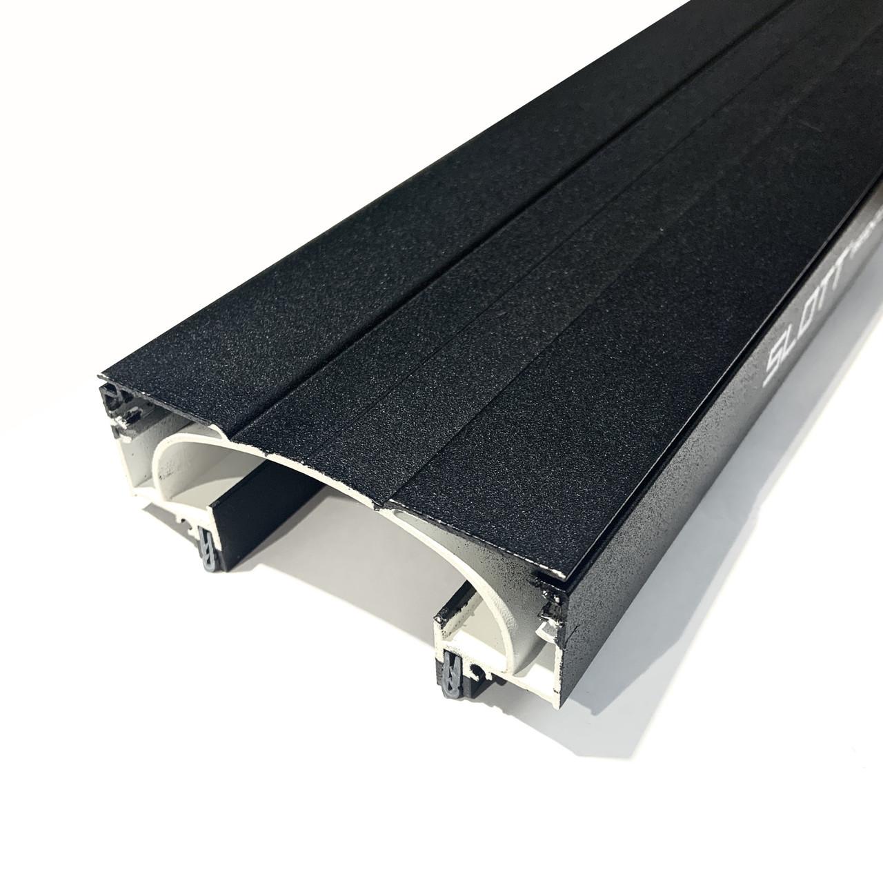 Профіль алюмінієвий для натяжних стель - світлові лінії SLOTT ніша(ЧОРНО/БІЛИЙ)