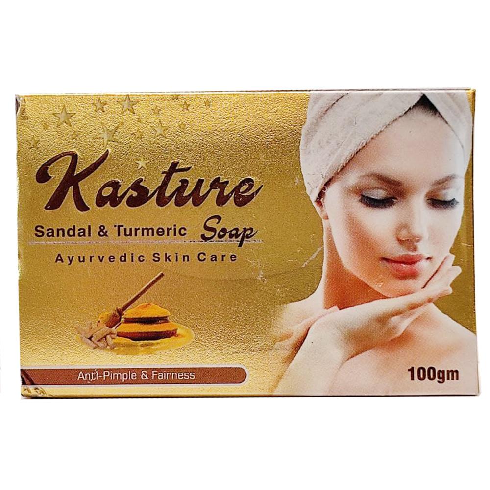 Мыло Касторовое (Kasture Sandal and Tumeric Soap, Vritikas), 100 грамм