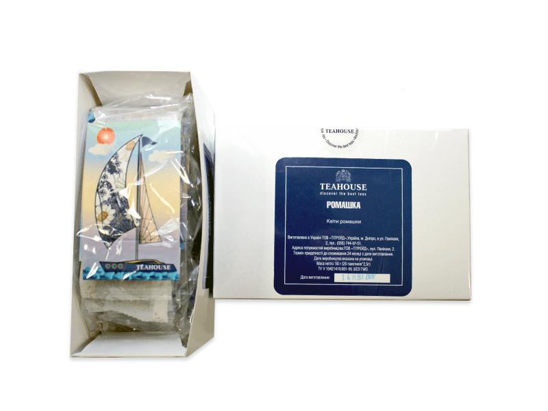 Чай Teahouse (Тиахаус) Ромашка пакетированный 20*2,5г (Tea Teahouse Chamomile packed 20*2,5г)