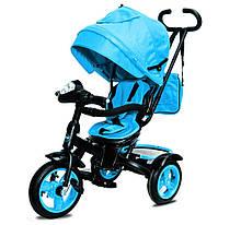 Велосипед Трехколесный детский Neo 4 Air с фарой голубой
