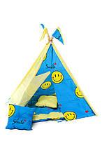 """Вигвам шалаш для детей палатка детская игровая для дома Kospa """"Smile Blue"""""""