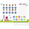 Накладка-підказка на парту FunDesk SS19-S для діток молодшої школи