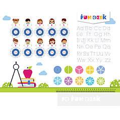 Накладка-подсказка на парту FunDesk SS19-S для деток младшей школы
