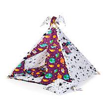 Вигвам шалаш для детей палатка детская игровая для дома Kospa Kosmos