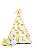 Вигвам шалаш для детей палатка детская игровая для дома Kospa Smile Yellow