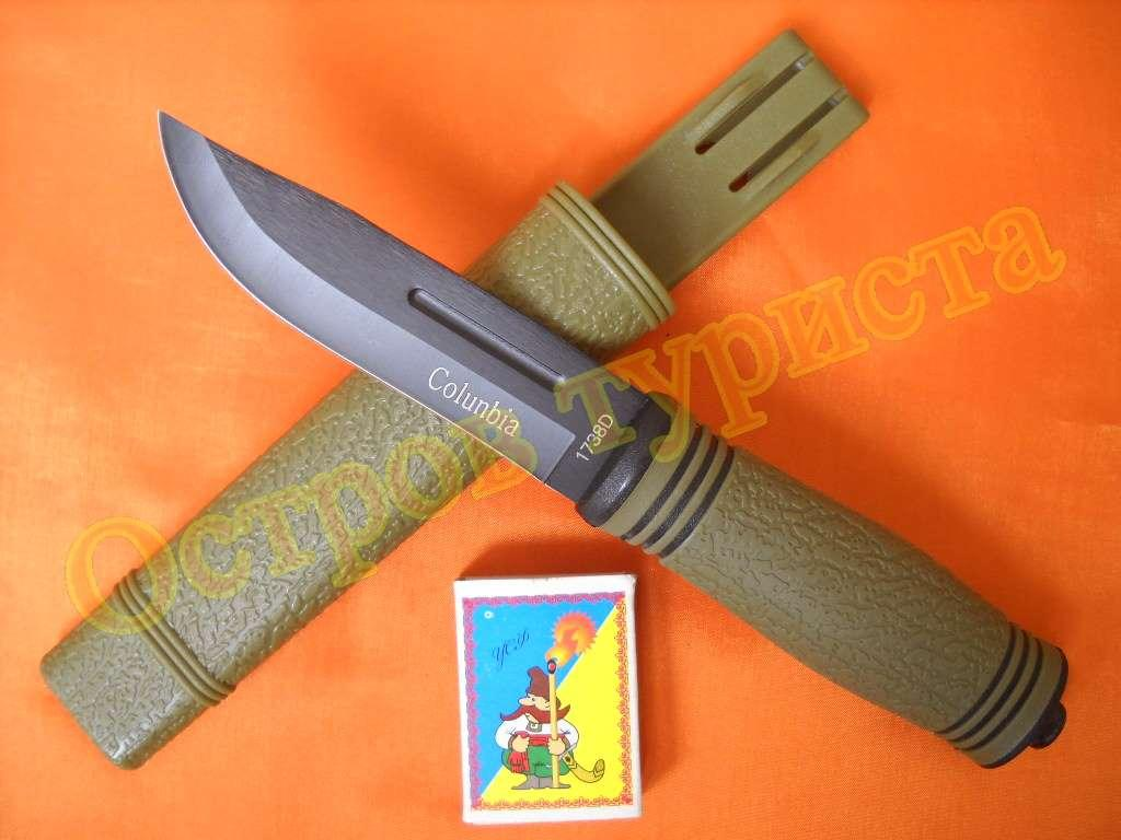 Нож Colunbia с чехлом и битой 1738D дайвинг туристический