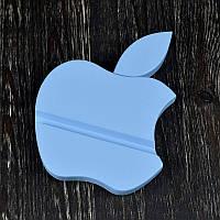 Деревянная подставка для iPhone в виде яблока (голубой)