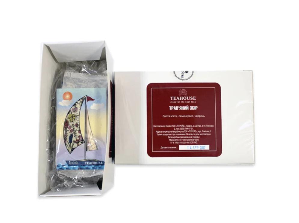 Чай Teahouse (Тіахаус) Трав'яний збір пакетований 20*3г (Tea Teahouse Herbal collection packed 20*3г)