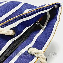 Пляжна сумка синя смуга, фото 2