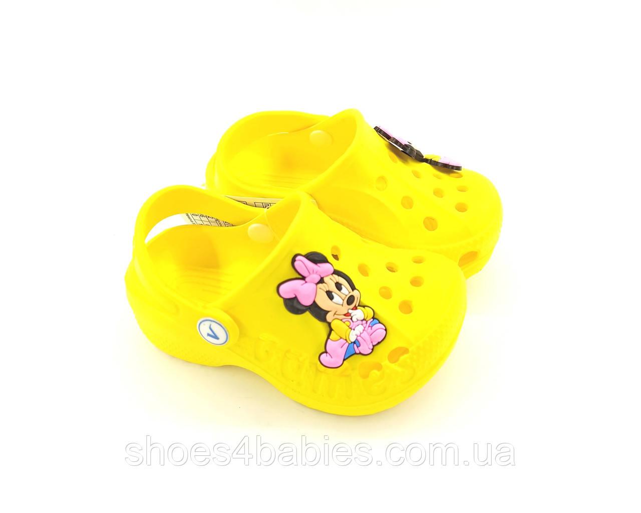 Крокси дитячі Віталія жовті з Міні р. 22 - 33 модель G