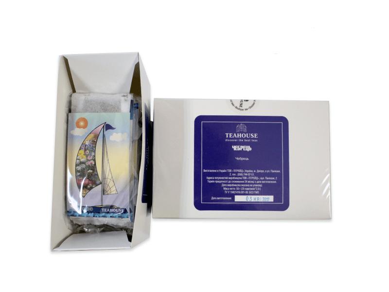 Чай Teahouse (Тіахаус) Чебрець пакетований 20*3г (Tea Teahouse Thyme packed 20*3г)