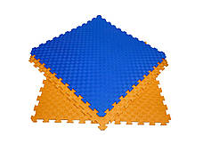 Детский мягкий пол коврик пазл EVA/ЭВА 12 мм (100х100 см) оранжевый, фото 2