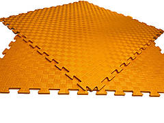 Детский мягкий пол коврик пазл EVA/ЭВА 12 мм (100х100 см) оранжевый