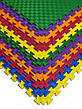 Детский мягкий пол коврик пазл EVA/ЭВА 12 мм (100х100 см) оранжевый, фото 3