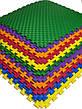 Детский мягкий пол коврик пазл EVA/ЭВА 12 мм (100х100 см) оранжевый, фото 4