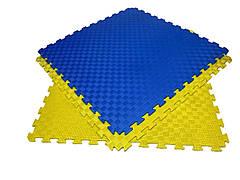 Детский мягкий пол коврик пазл EVA/ЭВА 12 мм (100х100 см) желтый