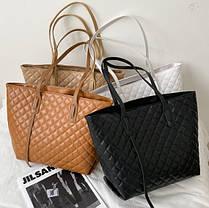 Стильная классическая сумка шоппер, фото 2