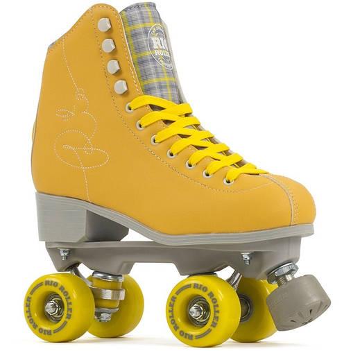 Взрослые роликовые коньки Rio Roller Signature 35.5 yellow, фото 2