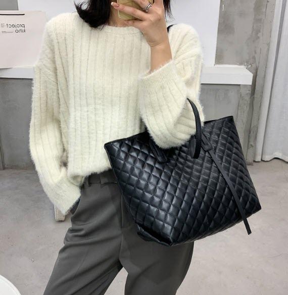 Стильная классическая сумка шоппер