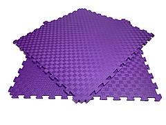 Детский мягкий пол коврик пазл EVA/ЭВА 12 мм (100х100 см) фиолетовый