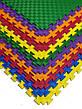 Детский мягкий пол коврик пазл EVA/ЭВА 12 мм (100х100 см) фиолетовый, фото 3