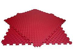 Детский мягкий пол коврик пазл EVA/ЭВА 12 мм (100х100 см) красный