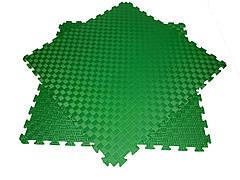 Детский мягкий пол коврик пазл EVA/ЭВА 12 мм (100х100 см) Зеленый