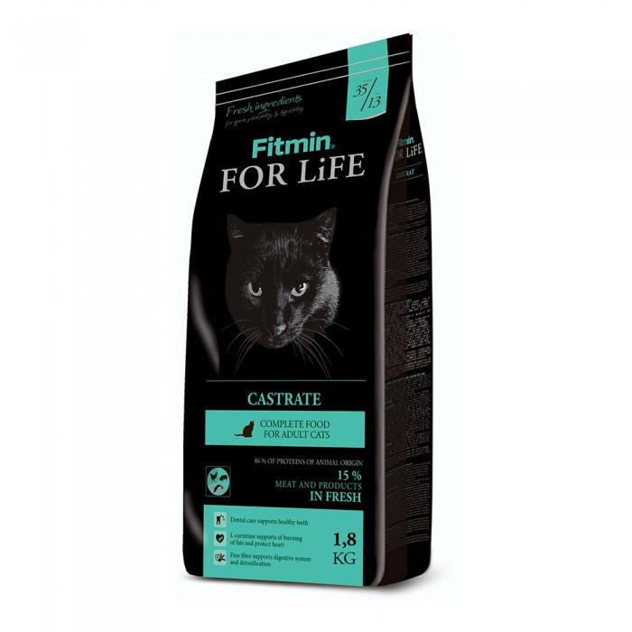 Сухой корм для стерилизованных кошек Fitmin For Life Castrate 1,8 кг