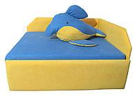 Детский диван Малыш NEW Дельфин МАКСИ-МЕбель Грушовый/Темно-голубой (10402)
