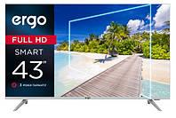 Телевизор Ergo 43DFS7000 серый Smart TV Т2 S2 Android 43 дюйма безрамочный