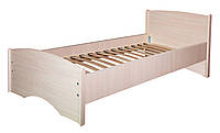 Кровать ортопедическая Нега усиленная (плюс)(деревянный каркас) МАКСИ-МЕбель (под матрас 1900 х 800) Дуб