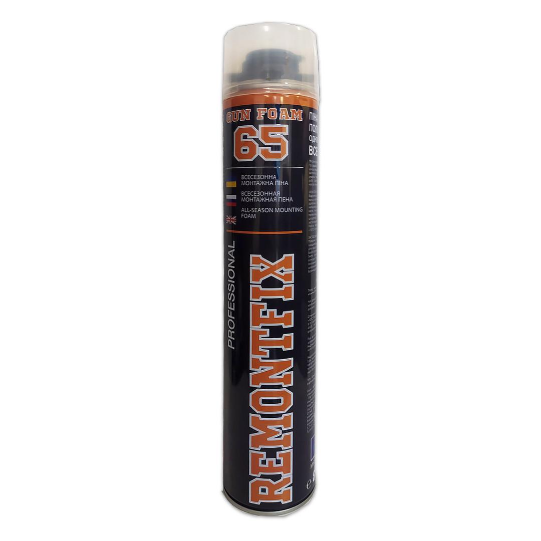 Професійна поліуретанова монтажна піна Polyurethane GUN Foam-TYPE REMONTFIX 65