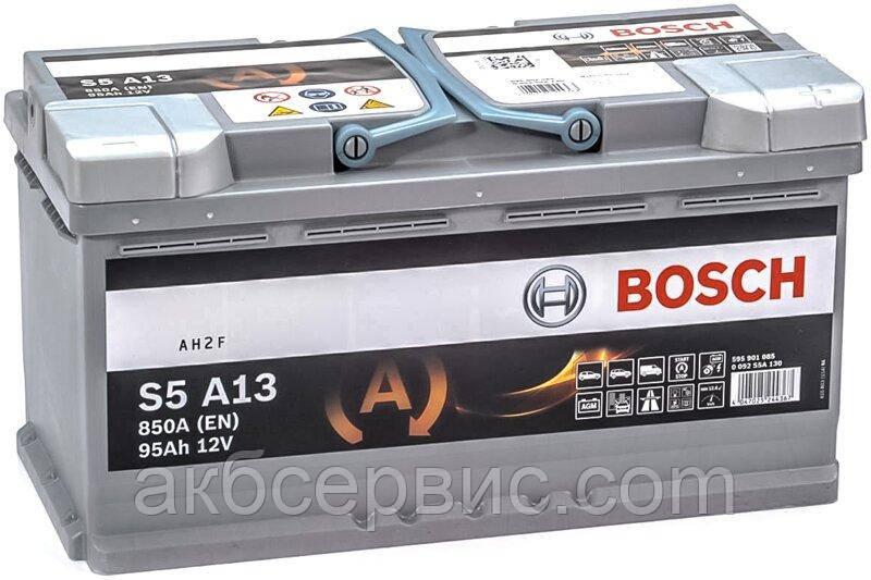 Акумулятор автомобільний Bosch 6СТ-95 S5A AGM (S5 A13)