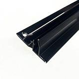 Профіль алюмінієвий для натяжних стель - W-подібний ЧОРНИЙ, сепараційні. Довжина профілю 2,5 м., фото 3