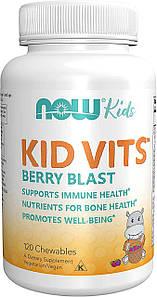 Вітамін для дітей Now Foods Kid Vits 120 жеват. таб. ягідний смак
