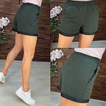Короткі шорти на гумці з підворотом в спортивному стилі в кольорах (р. 42-48) 112651, фото 4