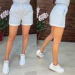 Короткі шорти на гумці з підворотом в спортивному стилі в кольорах (р. 42-48) 112651, фото 5