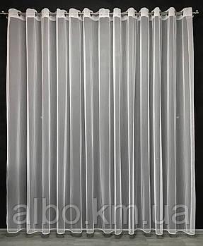 Тюль на люверсах фатиновый ALBO 500x270 cm Белый (T-F-L-5)