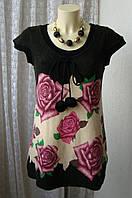 Платье женское теплое акрил мини бренд Mela Loves London р.44-46 4735а
