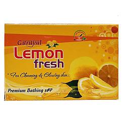 """Тонизирующее мыло из Индии """"Лимонная свежесть"""" Gurukut, 75 грамм"""