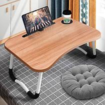 Складной деревянный столик для ноутбука и планшета, размеры 59х40х30 см