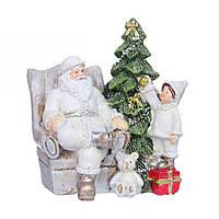 Статуетка (фігурка) Санта Клаус (Дід Мороз) 7см Декор для будинку на новий рік
