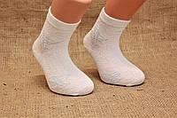 Детские носки средние Montebello Ф3 б/р 7  белые, ажурные