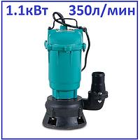 Насос дренажный фекальный 1100Вт H18м 350л/мин Aquatica канализационный садовый полива и откачки ям септиков