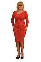 Платье трикотажное красное - Модель Л58-2к