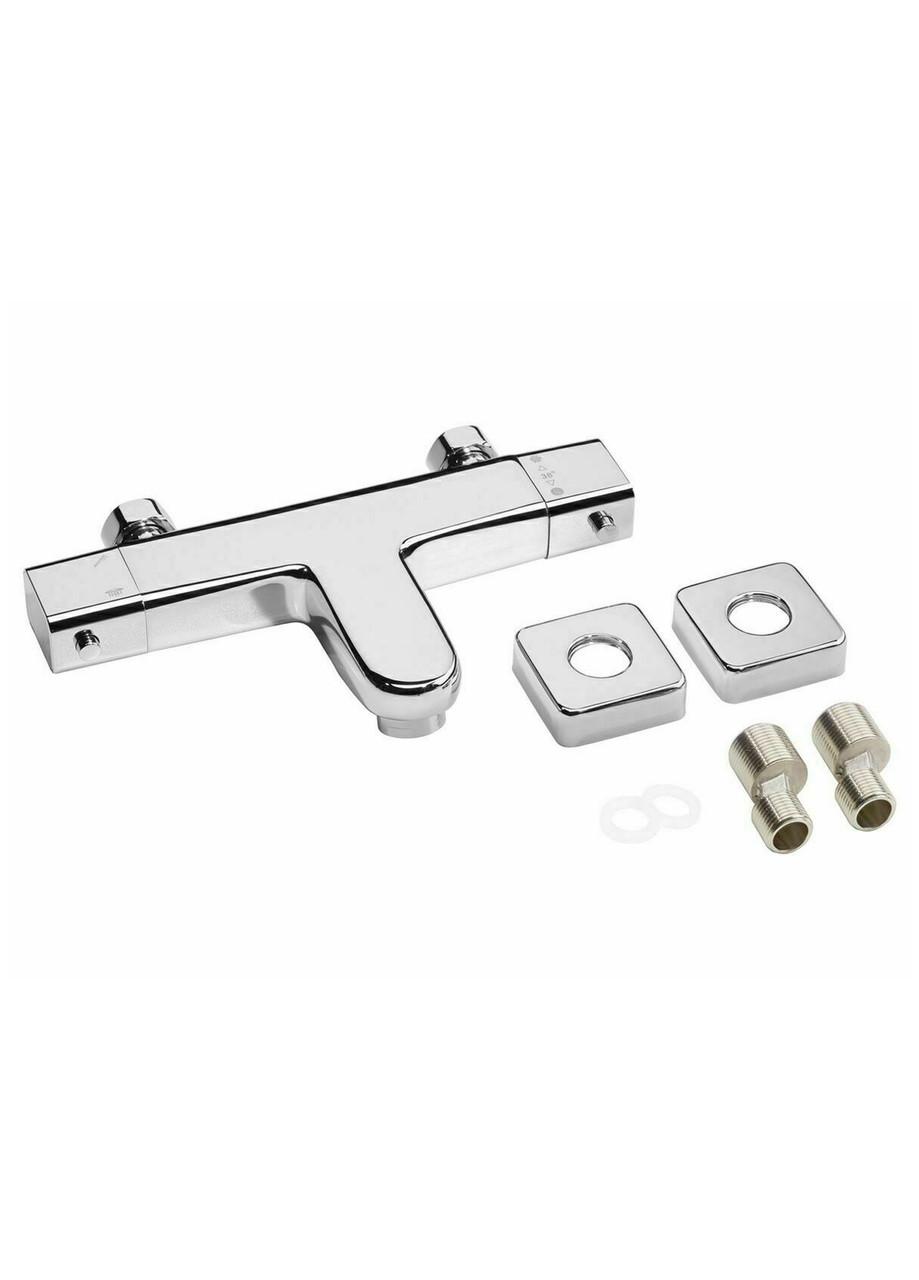 Змішувач термостатичний для ванної Miomare 26×13.6×4.6 срібло (H1-570518)