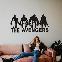 Объемная картина из дерева DecArt Avengers