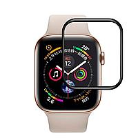 Защитное стекло для Apple Watch 4 series 3D FullGlue 40 mm черный