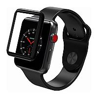 Защитное стекло для Apple Watch 3 series Softedge FullGlue 42 mm черный